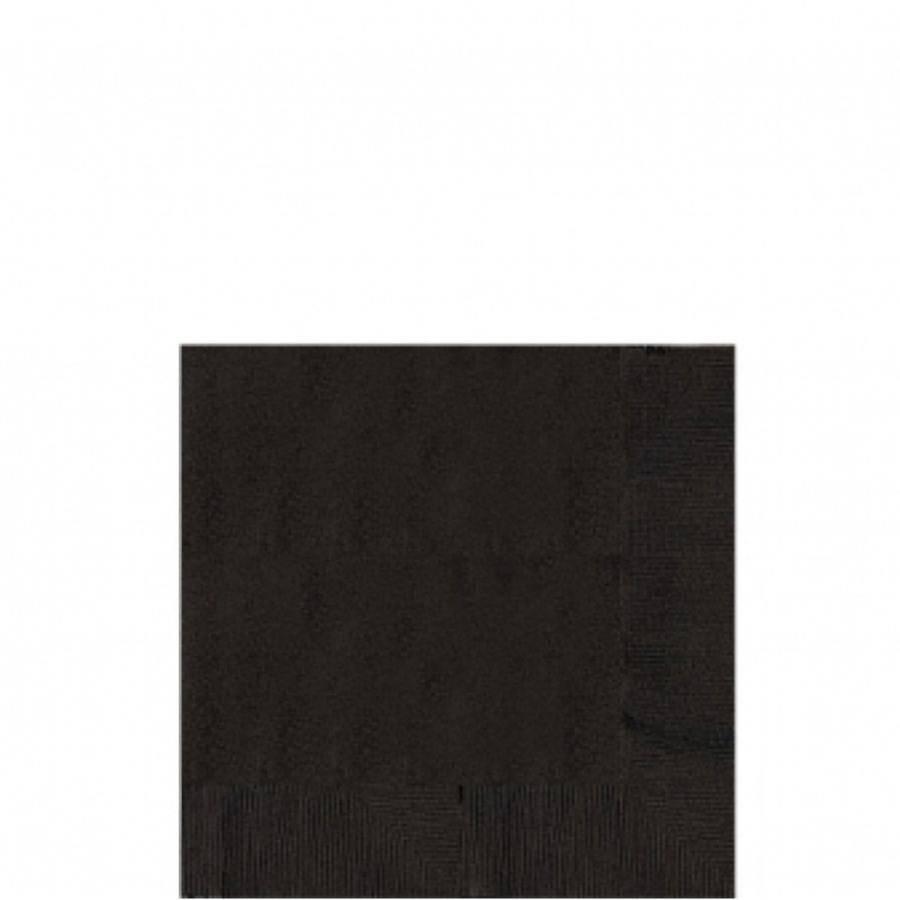 Ubrousky černé 50ks 25x25cm - Amscan