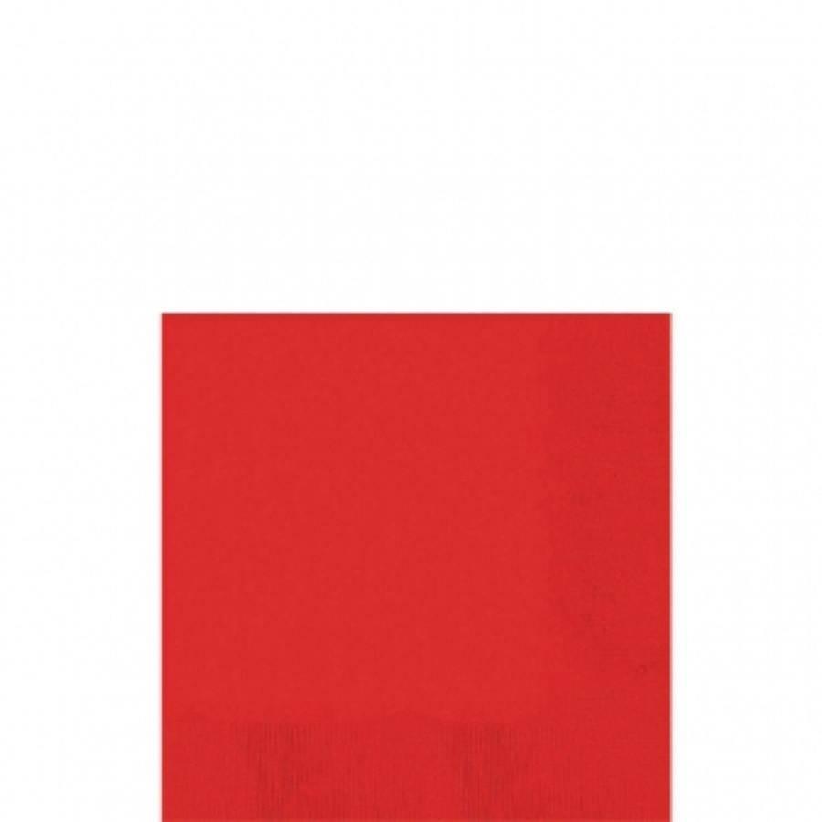 Ubrousky červené 50ks 25x25cm - Amscan